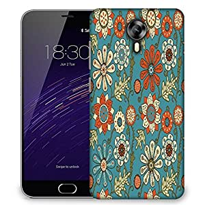Snoogg colorful floral seamless pattern in cartoon style seamless pattern Designer Protective Back Case Cover For Meizu M2