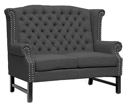 TOV Furniture Fairfield Linen Loveseat, Grey