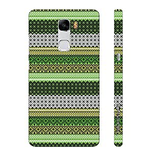 Huawei Honor 7 Line it Green designer mobile hard shell case by Enthopia