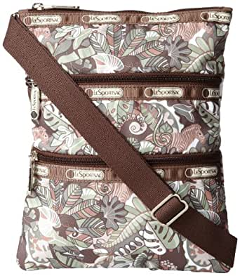 LeSportsac Kasey Zipper Cross Body,Safari,One Size