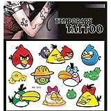 SYZ Beauty Waterproof Temporary Tattoos Angry Bird Tattoos
