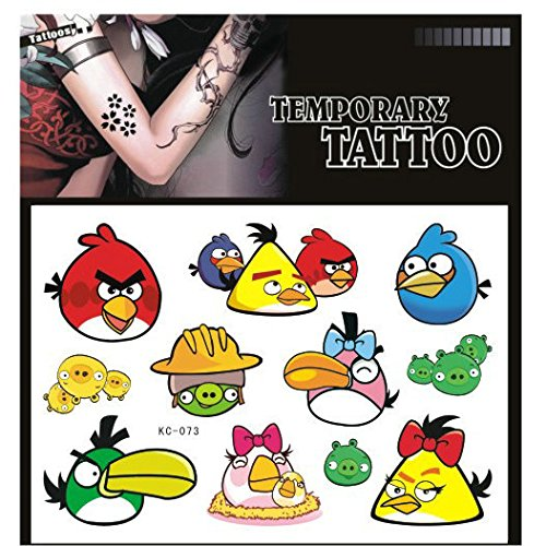 SYZ Beauty Waterproof Temporary Tattoos Angry Bird Tattoos
