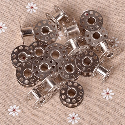 20pcs Sewing Machine Bobbins Stainless Metal For Kenmore Viking Singer, Suitable for all kind of sewing factory or home use (Antique Sewing Machine Belts compare prices)