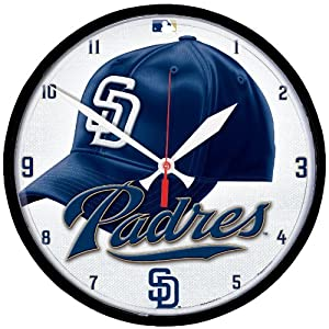 MLB San Diego Padres Round Clock by WinCraft