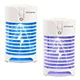 DILISENS Indoor Insect Killer, 2 Pack Plug-in Bug Zapper Electric Mosquito Killer Lamp with Light Sensor - Perfect for Indoor Pest Control (white) (Color: white, Tamaño: mini)
