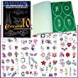 Master Airbrush® Brand Airbrush Tattoo Stencils Set Book #10 Reuseable Tattoo Template Set, Book Contains 100 Unique Stencil Designs, All Patterns Come on High Quality Vinyl Sheets with a Self Adhesive Backing.