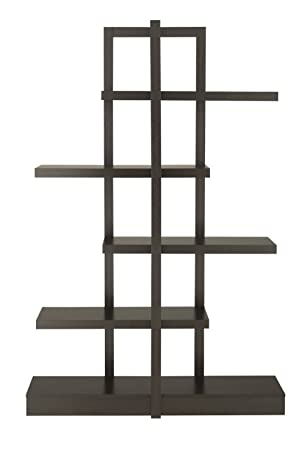 Furniture of America Lydia 5-Shelves Display Stand, Cappuccino
