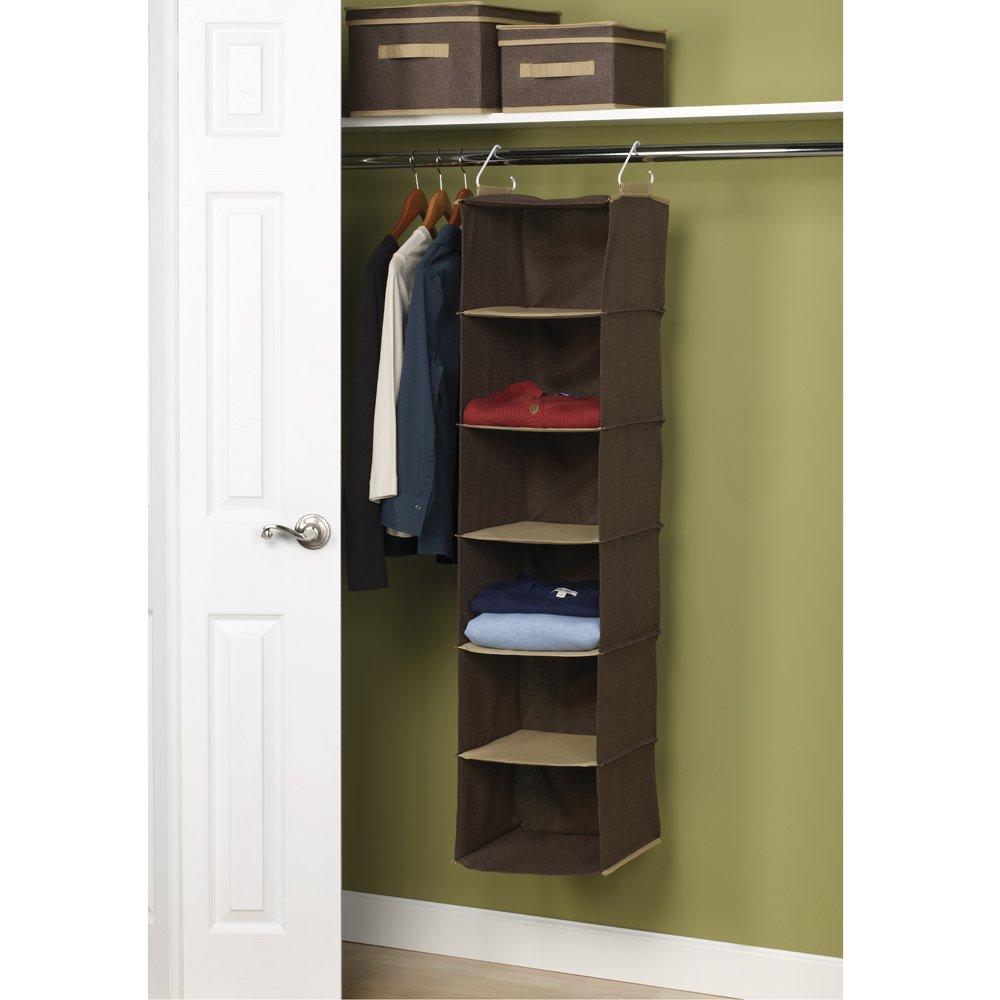 Household essentials 6 shelf hanging closet organizer for Where to buy closet organizers