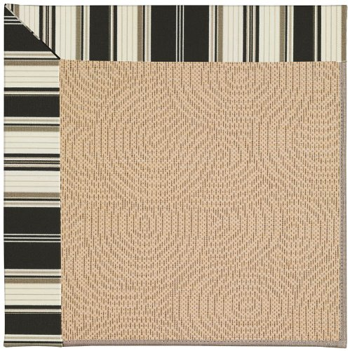"2'6"" x 10' Made-to-Order Capel 1994NS02061000370 Down The Lane Ebony Color Machine Made Belgian ""Zoe Collection"" Bramble Design Runner Rug"