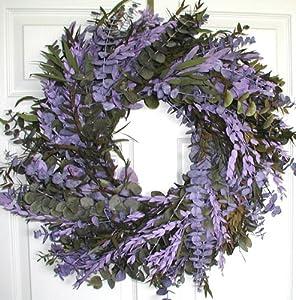 Purple Haze Eucalyptus Wreath - 24 in