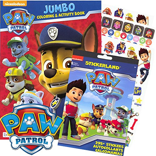 PAW Patrol Coloring Book and Stickers – 295 Stickers!