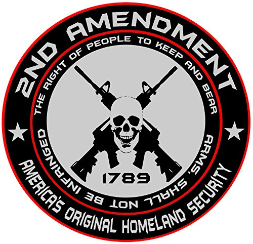 2nd Amendment - America's Original Homeland Security Round Bumper Sticker Decal (5 Inch) (America Auto Decals compare prices)