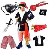 ハロウィンキッズ パイレーツ海賊仮装 コスプレ衣装 よくばりセット