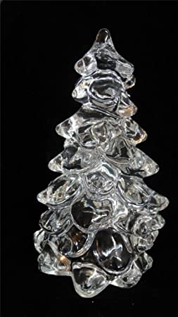 Large Crystal Glass Christmas Tree Hand Made in Ohio by Mosser Glass