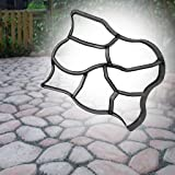 Seaskyer Plastic Stone Paving Mold Concrete Stepping Walkway DIY Mould Paver 7Grid Maker