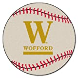 FANMATS NCAA Wofford College Terriers Nylon Face Baseball Rug