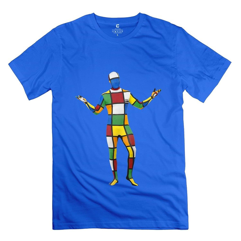 Vintage Melting 3-D Rubiks Cube Mirror Men's T-shirt RoyalBlue соска mam 2 6