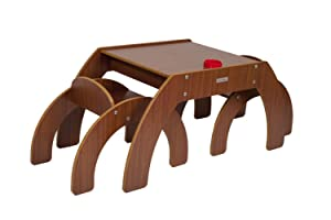 Little Helper FunStation Duo Toddler Table and 2 Chair Set (Walnut)       Customer reviews and more news