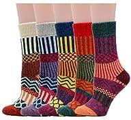 Women's Crew Socks Wool Thick Winter…