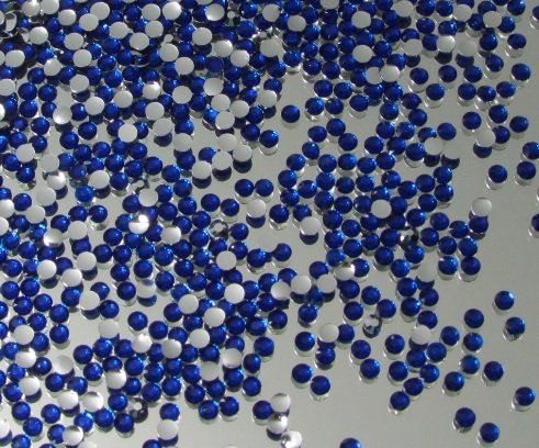 2,500pc Flatback Rhinestones Round 2mm Perfect for Nails Arts - Royal Blue By Pixiheart