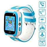 Kids Smartwatch with Games LBS Waterproof SOS Call Camera Sound Guardian (Color: Blue, Tamaño: 2.03 * 1.51 * 0.57 in)