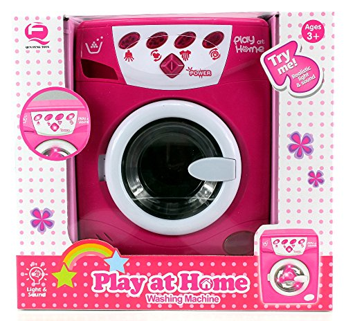 big deluxe play at home pretend play battery operated toy washing machine play set w lights. Black Bedroom Furniture Sets. Home Design Ideas