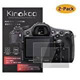 kinokoo Tempered Glass Film for Sony A9/A77M2/A99 Crystal Clear Film Sony a9 a77 II a99 Screen Protector Bubble-Free/Anti-Scratch(2 Pack) (Tamaño: A9/A77M2/A99)