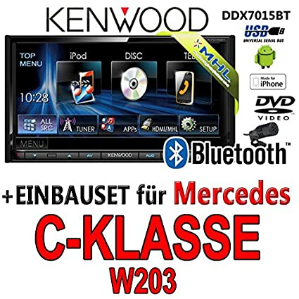 Mercedes classe c w203 modèle kenwood-dDX7015BT 2DIN multimédia hDMI/mHL bluetooth uSB avec dVD