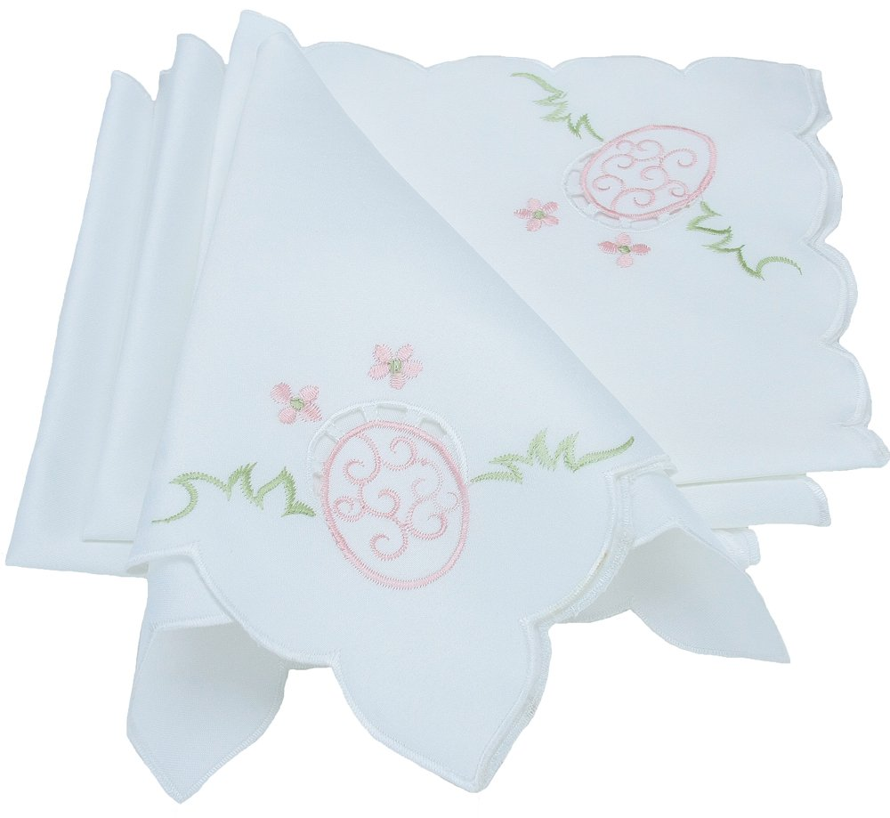 Xia Home Fashions Easter Egg Embroidered Cutwork Easter Napkins, 18 by 18-Inch, Set of 4 xia 2013 2012 xia ballad