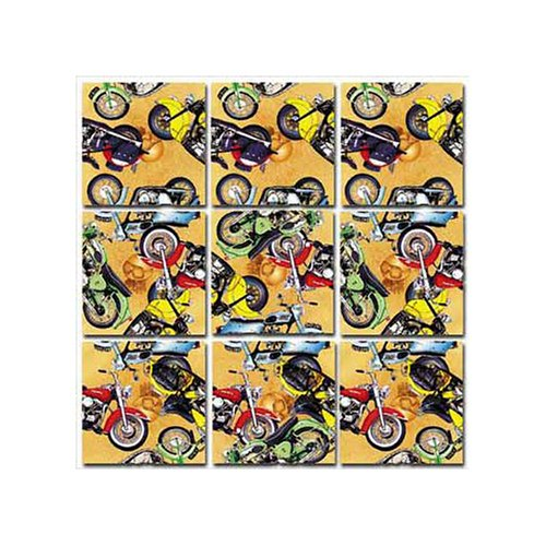 Cheap B.DAZZLED Classic Motorcycles Scramble Squares Puzzle 9pc (B000BWZR7I)