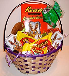 Reese's Easter Basket Fill with Reese's Peanut Butter Eggs and Bunnies