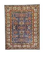 Eden Carpets Alfombra Kazak Super Azul/Multicolor 196 x 153 cm