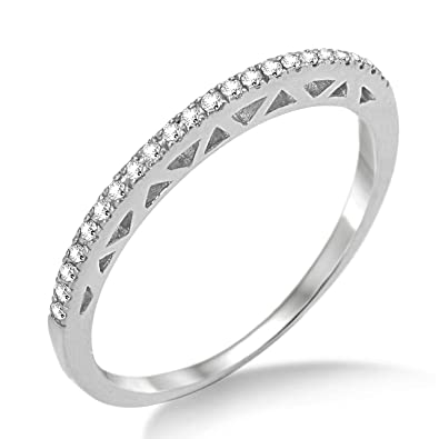 Miore MP9022RM Diamond Eternity Ring, 9 ct White Gold, 0.10 carat Diamond Weight
