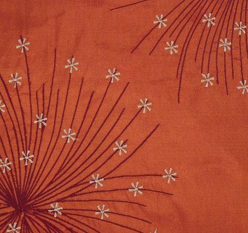 Imagen 3 de Cojín de seda bordada india cubiertas decorativas Tamaño 16 x 16 pulgadas Juego de 2 piezas