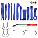 Trim Removal Tools, Auto Car Panel Removal Tool Kit, Car Panel Door Dash Audio Radio Fastener Removal Installer Modification Pry Tool, Set of 18 Pcs (Color: 18 Pcs)