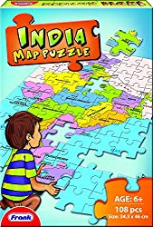 Frank India Map Puzzle, Multi Color