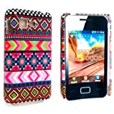 DARK NEW PINK AZTEC TRIBE TRIBAL PATTERN RETRO VINTAGE PRINT HARD BACK PROTECTION CASE COVER FOR SAMSUNG STAR 3 DUOS S5220 S5222