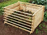 Easy-Load Wooden Compost Bin Composte...