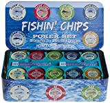 FISHIN' CHIPS - Saltwater - 200 CLAY CHIPS POKER SET
