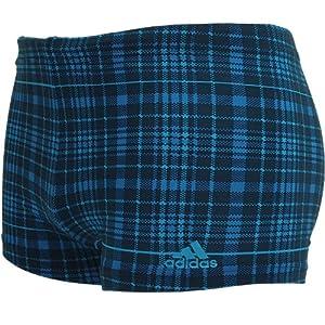 Adidas Infinitex mens favourite check boxer X31124 Mens Swimsuit / Swim boxer / Swim shorts Blue 3