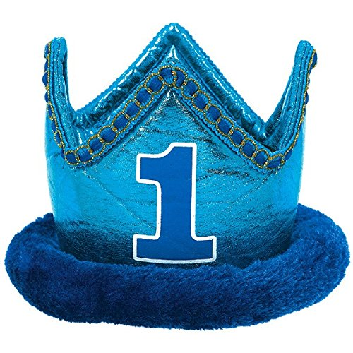 "Amscan 1st Birthday Novelty Crown, 4"" x 6"", Blue"