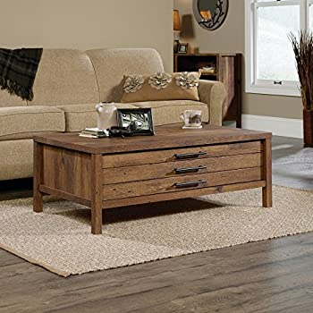 Sauder New Grange Storage Coffee Table in Vintage Oak