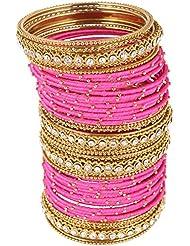 Nakshatra Collection Gold Metal Bangle Set For Women (44 Nos.) (UBAS100)