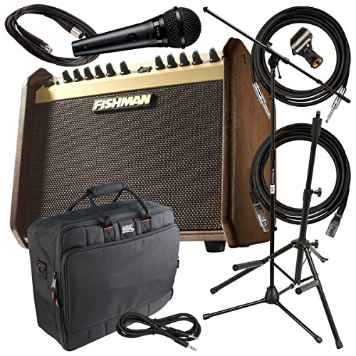 Fishman Loudbox Mini COMPLETE AMP PAK w/ Bag, Mic, Stands &
