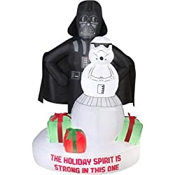 Star Wars Darth Vader & Stormtrooper Christmas Airblown Inflatable