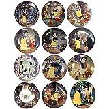 Snow White & The Seven Dwarfs Bradford Exchange Collector Plates Complete Set