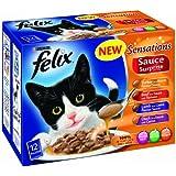 Felix Sensations Sauce Surprise Meat Selection 12 x 100 g (Pack of 4)