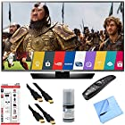 LG - 65LF6300 65-Inch Full HD 1080p 120Hz LED Smart HDTV Plus Hook-Up Bundle. Includes TV with Magic Remote, 3 Outlet Surge Protector with USB Ports, 2 x High-Speed HDMI Cable with Ethernet 6 ft., Performance TV/LCD Screen Cleaning Kit, and More