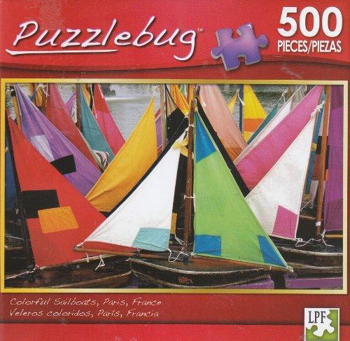 Puzzlebug 500 - Colorful Sailboats Paris France - 1