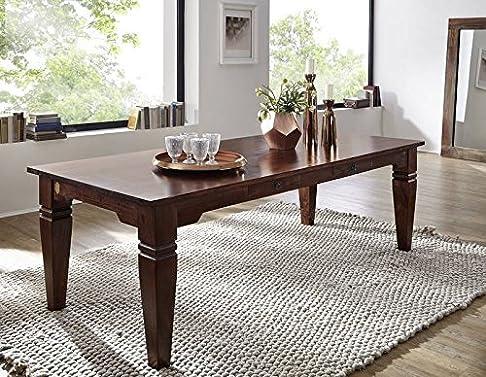 COLONIALE Tavolo da pranzo 220x100 Acacia in legno massello OXFORD Suno #607